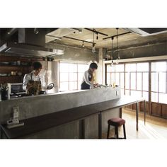Cafe Shop Design, House Design, Cooking In The Classroom, Restaurant Plan, Traditional Japanese House, Apartment Design, Kitchen Interior, Home Kitchens, Kitchen Dining