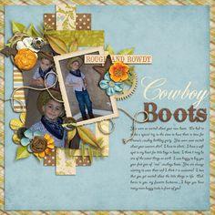 Cowboy Boots - Scrapbook.com - #scrapbooking #layouts