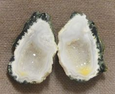 Tabasco Geode 1 Pair Cut and Polished Great for Jewelry 23877