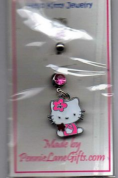 NEW ~ HELLO KITTY BELLY RING NAVEL RING ~ free shipping in USA ~ GIN