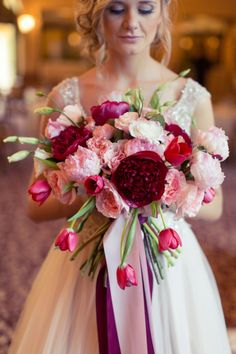 Romantic Pink and Red Wedding Inspiration | Every Last Detail