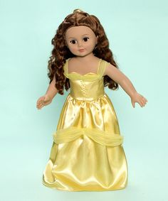 18'' Belle Doll by Madame Alexander on #zulily 5/1/13! Reg $50., Now $26.99. Belle the fair princess is ready to grace the home. With long, copper hair and a stunning golden dress, she's perfectly prepared to bring her royal splendor to the castle and add fairy-tale charm wherever she goes.  Includes: doll and outfit.  Recommended for ages 3 years and up.  Imported.