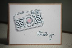 One Handmade Thank You Card Photographers Thank by strandedpaper