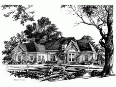 French Country House Plan with 2745 Square Feet and 4 Bedrooms(s) from Dream Home Source | House Plan Code DHSW46801