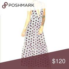 For Love and Lemons Magnolia Dress Long maxi dress with velvet flowers. Never worn ! For Love and Lemons Dresses Maxi