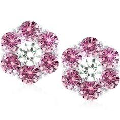 Carat London Fancy Pink Flower SDE1945MPW Stud Earrings. Available at http://www.identityonline.biz/products/CARAT-London/1625