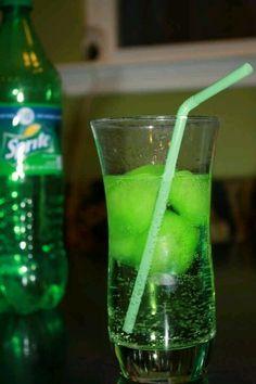 Sprite + Koolaid ice cubes