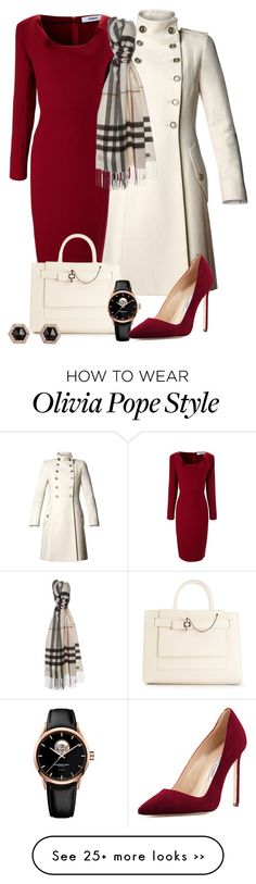 """Olivia Pope Re-styling"" by Dem colors, tho. In love with that cherry red Business Outfits, Business Attire, Classy Outfits, Cute Outfits, Jw Mode, Olivia Pope Style, Olivia Pope Outfits, Olivia Pope Wardrobe, Outfit Chic"