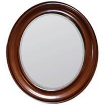 "Cooper Classics Booker 26"" x 30"" Oval Wood Wall Mirror 55 downing street $230.00"