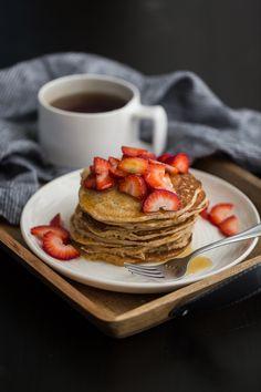 Buttermilk Spelt Pancakes | @naturallyella