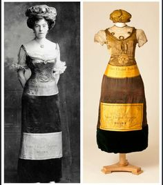Champagne bottle fancy dress, 1902 From the Fashion Museum, Bath via the…