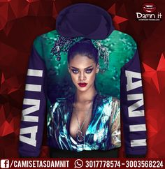 Buzo con capucha Rihanna Anti   http://www.facebook.com/camisetasdamnit