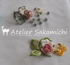 蝶ちょと小花。 : タティングレース便り ~アトリエ さかみち~