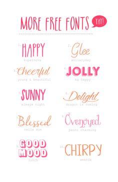 Hello! Happy Free Fonts! YAY!