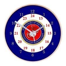 Marine 24 Hour Wall Clocks - CafePress