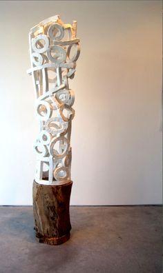 Brandon Reese Sculpture Steel Sculpture, Sculpture Art, Instalation Art, Coil Pots, Artistic Installation, Found Art, Outdoor Sculpture, Paperclay, Art Plastique