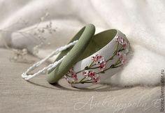 """Браслеты ручной работы. Ярмарка Мастеров - ручная работа. Купить Комплект браслетов """"Герань"""". Handmade. Цветочный браслет, зеленый"""