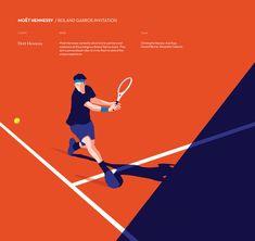 Moët Hennessy - Roland Garros invitation on Behance Tennis Posters, Adriana Lima Victoria Secret, Beach Bunny Swimwear, Event Poster Design, Graphic Design Tutorials, Travel Design, Bikini Photos, Sports Illustrated, Motion Design