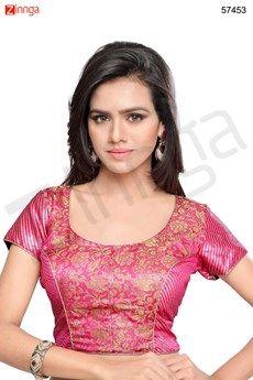 Blouses, Women's U Neck Jacquard Unstitched Blouse Indian Wear, Blouse Designs, Blouses, Clothes For Women, Tops, Fashion, Outerwear Women, Moda, Indian Fashion