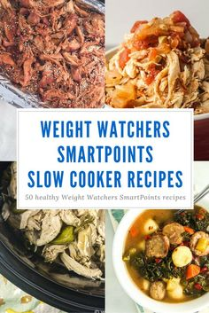 Fifty Weight Watchers SmartPoints Slow Cooker Recipes for an effortless dinner that your family will love. Recipes for chicken, beef, pork, vegetarian meals, and more from Slender Kitchen. Healthy Slow Cooker, Healthy Cooking, Slow Cooker Recipes, Healthy Eating, Crockpot Meals, Weight Watcher Crockpot Recipes, Stay Healthy, Healthy Weight, Healthy Food