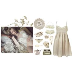 the flowers aren't dead, just sleeping by dulcerina on Polyvore featuring moda, Eberjey, Topshop, L. Erickson and Jennifer Behr