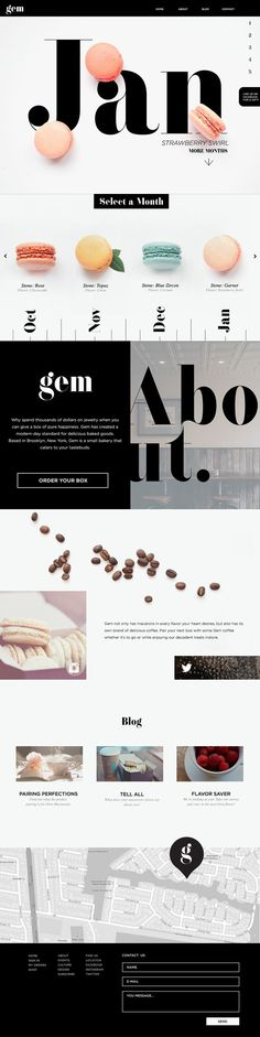 Web design and collateral for Gem Bakery, a high end macaron…  Latest News & Trends on #webdesign | http://webworksagency.com