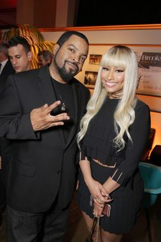 Ice Cube & Nicki Minaj at the 'Barbershop' Premiere | Billboard
