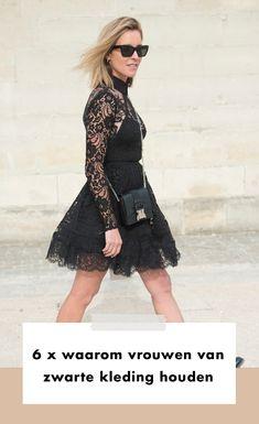 Geen kleur wordt zo veelvuldig gedragen als ons geliefde zwart. Niet zo gek ook, want er zijn nogal wat redenen te bedenken waarom dit op modegebied zo'n ontzettend fijne kleur is.   Winter | Herfst | Zomer | Lente | Fashion | Mode | Streetstyle Trends | Fashion Week | 2020 | Outfit | Look | Zwarte | Kleding | Items | Jurk | Kleur | Inspiration | Inspiratie | More On Fashionchick | Meer Op Fashionchick High Low, Fall Winter, Chiffon, Sunglasses, Blouse, Outfits, Beautiful, Dresses, Fashion