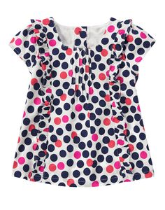 NWT Gymboree Girls Ciao Puppy Striped Navy Pink Top Shirt Size 2t