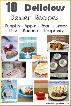 10 Delicious Dessert Recipes from Setting for Four