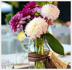 Wedding Ideas, Diy Wedding Centerpiece Ideas On A Budget: diy wedding centerpiece ideas.. Love the flowers too!