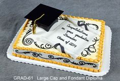 fondant diploma | When ordering a cake from this page, please give your salesperson the ...