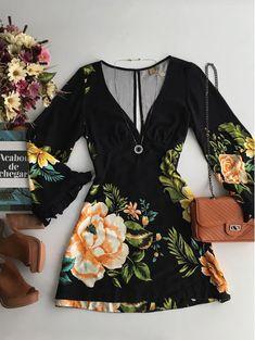 Vestido Curto Flor Por Flor