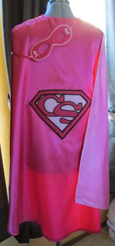 Breast Cancer Survivor Superhero Cape with matching mask / Pink Cape / Breast Cancer Awareness by madglamapparel on Etsy https://www.etsy.com/listing/230011273/breast-cancer-survivor-superhero-cape