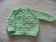 Discover thousands of images about Mint green baby cardigan Easy Baby Knitting Patterns, Baby Cardigan Knitting Pattern Free, Baby Sweater Patterns, Crochet Baby Cardigan, Knit Baby Sweaters, Crochet Baby Clothes, Baby Patterns, Knitting For Charity, Knitting For Kids
