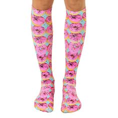Living Royal Girls Pink Donuts Knee High Socks in Pink