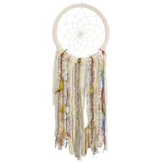 Young's Yellow & Blue Dream Catcher ($30) ❤ liked on Polyvore featuring home, home decor, yellow home accessories, southwest home decor, yellow home decor, dream catcher home decor and blue home decor