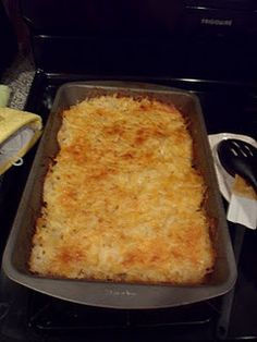 Hashbrown Casserole my mom makes this every year for Christmas breakfast and I love it!