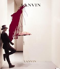 LANVIN Splash windows, Paris visual merchandising