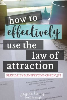 Understanding the law of attraction doesn't have to be difficult, because the premise is actually very simple! Also included is a daily manifesting checklist. Leadership Personality, Law Of Attraction Quotes, What Is Your Name, How To Manifest, Meaning Of Life, Positive Affirmations, Affirmations Success, Self Help, How To Apply