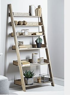 Hand Crafted From Rustic Style Spruce Wood, Our Best Selling Rustic Wooden  Ladder Shelf Is Now Available Double The Size. This Extra Large Solid, ...