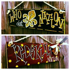Custom School/Team/Gameday Barn Wood Signs by SouthernFCreations, $30.00