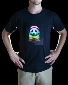 Space Panda Animated LED T-Shirt - Electric Styles