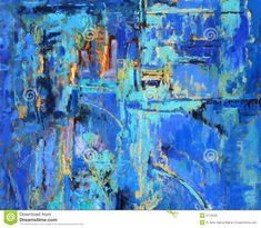 Abstract Painting In Blues Royalty Free Stock Images - Image: 6715529