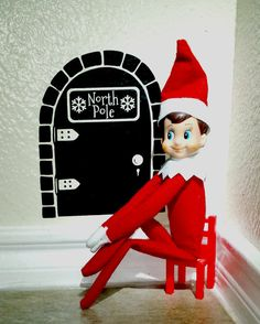 Hey, I found this really awesome Etsy listing at https://www.etsy.com/listing/210084177/elf-on-a-shelf-inspired-door-decal