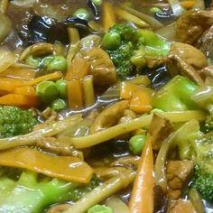 Édes-csípős csirke Japchae, Ethnic Recipes, Food, Essen, Meals, Yemek, Eten