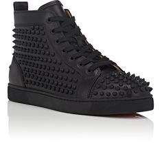 3a6a97c91873 Christian Louboutin Yang Louis Flat Leather Sneakers - 6 M Red Leather  Sneakers