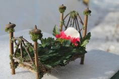 Natural Handmade Fairy Garden Bed by WildRoseWhimsies on Etsy