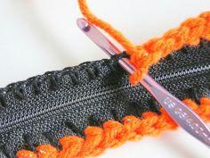 croche - como colocar ziper