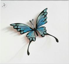 Nice and fine work - Quilling Art Beadwork Quilling Butterfly, Quilled Roses, Neli Quilling, Quilling Paper Craft, Paper Crafts Origami, Butterflies, Quilling Comb, Paper Crafting, Paper Quilling Cards